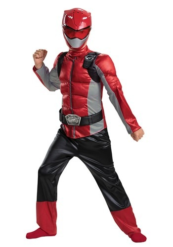 Click Here to buy Power Rangers Beast Morphers Kids Red Ranger Classic Costume from HalloweenCostumes, CDN Funds & Shipping
