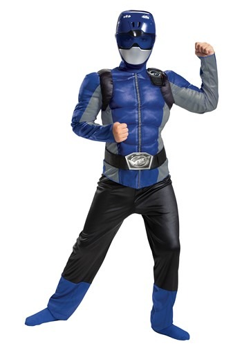 Power Rangers Beast Morphers Kids Blue Ranger Classic Blue Costume