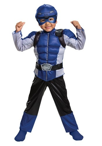 Click Here to buy Classic Power Rangers Beast Morphers Blue Ranger Kids Costume from HalloweenCostumes, CDN Funds & Shipping