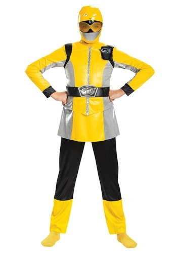 Click Here to buy Girls Deluxe Power Rangers Beast Morphers Girls Yellow Ranger Costume from HalloweenCostumes, CDN Funds & Shipping