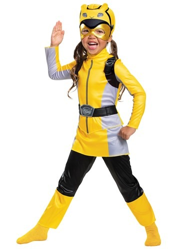 Power Rangers Beast Morphers Girls Yellow Ranger Costume - Classic