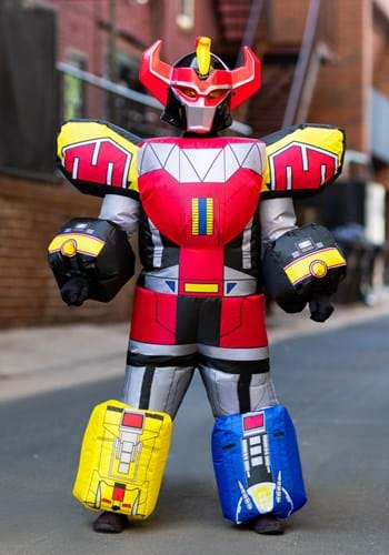 Click Here to buy Kids Power Rangers Megazord Inflatable Costume from HalloweenCostumes, CDN Funds & Shipping