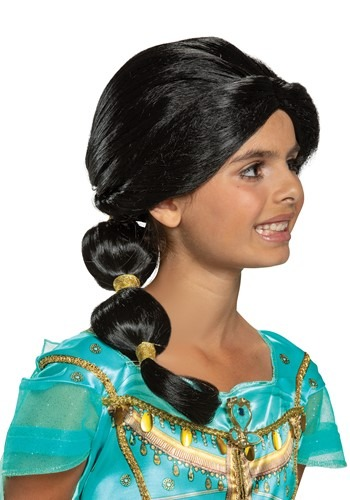 Click Here to buy Disney Aladdin Live Action Kid Jasmine Wig from HalloweenCostumes, CDN Funds & Shipping