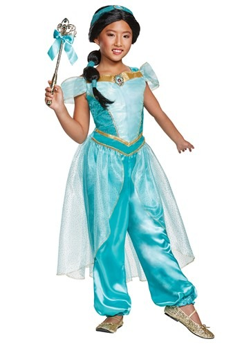 Click Here to buy Girls Aladdin Animated Deluxe Jasmine Costume from HalloweenCostumes, CDN Funds & Shipping