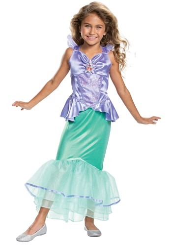 Click Here to buy Little Mermaid Ariel Classic Costume from HalloweenCostumes, CDN Funds & Shipping