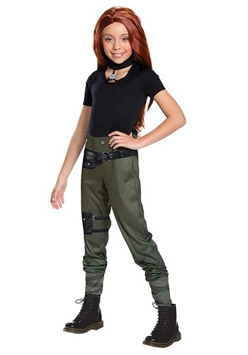 Click Here to buy Disney Kim Possible Live Action Girls Kim Possible Classic Costume from HalloweenCostumes, CDN Funds & Shipping