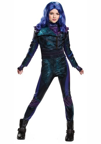 Click Here to buy Deluxe Descendants 3 Girls Mal Costume from HalloweenCostumes, CDN Funds & Shipping