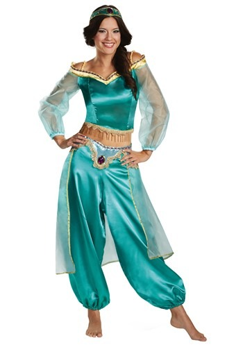 Womens Aladdin Animated Jasmine Prestige Costume | Disney