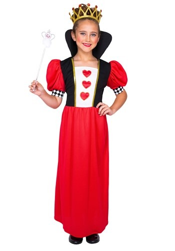 Click Here to buy Girls Fairytale Queen of Hearts Costume from HalloweenCostumes, CDN Funds & Shipping