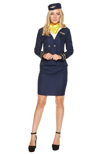 Womens Flight Crew Attendant Costume