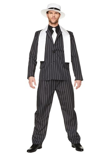 Mens Gangster Boss Costume With Accessories