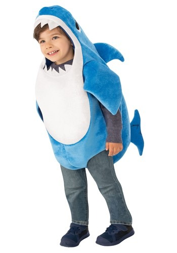 Click Here to buy Toddler Baby Shark Daddy Shark Costume with Sound from HalloweenCostumes, CDN Funds & Shipping