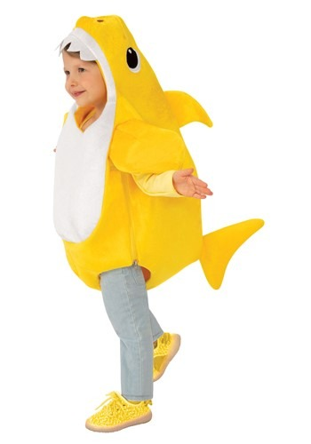 Click Here to buy Toddler Baby Shark Costume with Sound Chip from HalloweenCostumes, CDN Funds & Shipping