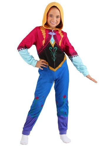 Click Here to buy Anna Frozen Girls Union Suit from HalloweenCostumes, CDN Funds & Shipping