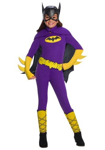 Click Here to buy Kids Batgirl Deluxe Costume from HalloweenCostumes, CDN Funds & Shipping