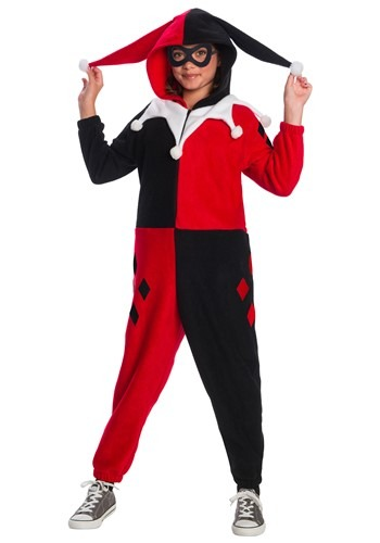 Click Here to buy Harley Quinn Kids Onesie from HalloweenCostumes, CDN Funds & Shipping
