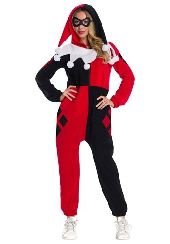 Click Here to buy Womens Harley Quinn Jumpsuit from HalloweenCostumes, CDN Funds & Shipping