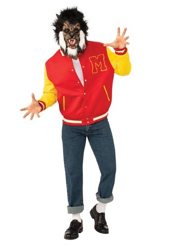 Click Here to buy Michael Jackson Thriller Werewolf Deluxe Adult Costume from HalloweenCostumes, CDN Funds & Shipping