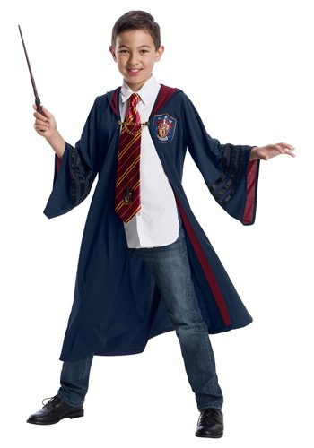 Click Here to buy Fantastic Beasts Vintage Gryffindor Deluxe Kids Blue Robe from HalloweenCostumes, CDN Funds & Shipping