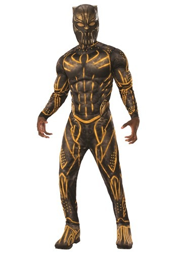 Click Here to buy Deluxe  Black Panther Killmonger Battle Suit for Adults from HalloweenCostumes, CDN Funds