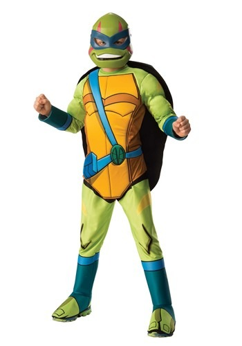 Click Here to buy Teenage Mutant Ninja Turtle Brother Leonardo Deluxe Kids Costume from HalloweenCostumes, CDN Funds & Shipping