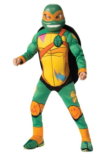 Teenage Mutant Ninja Turtle Brother Michelangelo Deluxe Kids Costume