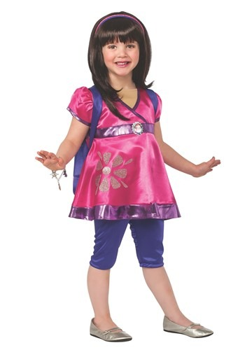 Click Here to buy Deluxe Dora the Explorer Toddler Costume from HalloweenCostumes, CDN Funds & Shipping
