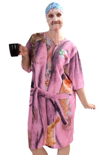 Womens Crazy Cat Lady Costume Adult