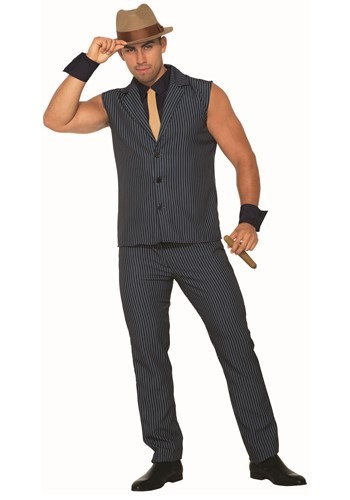 Click Here to buy Sexy Gangster Mens Costume from HalloweenCostumes, CDN Funds & Shipping