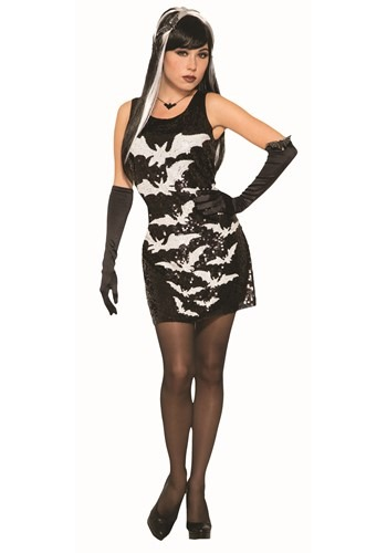 Women's Sequin Bat Dress