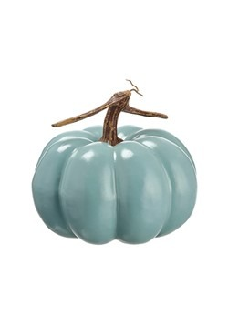 Teal Trick or Treat Pumpkin