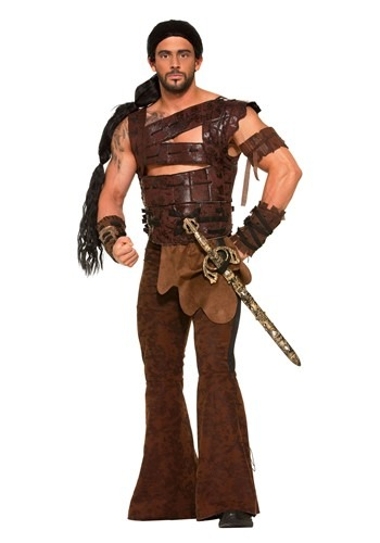 Medieval Warrior Plus Size Costume for Men
