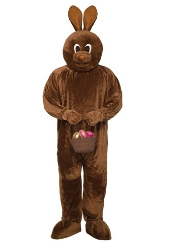 Easter Adult Chocolate Bunny Mascot Costume