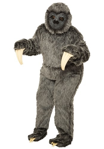 Adult Gray Sloth Mascot Costume