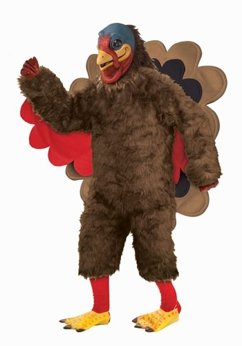 Click Here to buy The Adult Deluxe Plush Turkey Mascot Costume from HalloweenCostumes, CDN Funds & Shipping