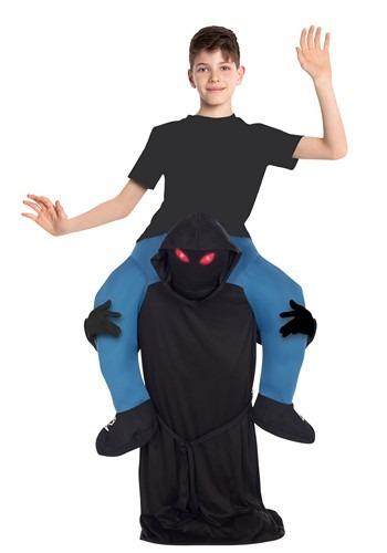 Glow Eyes Child Kids Ghoul Piggyback Costume