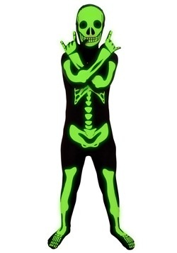 Child Glow Skeleton Costume 1