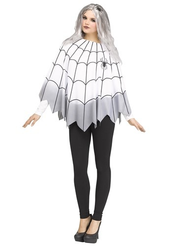 Click Here to buy Ombre Spider Web Poncho for Women from HalloweenCostumes, CDN Funds & Shipping