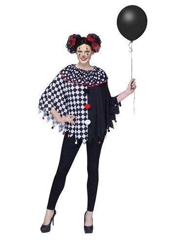Scary Clown Poncho Costume for Women