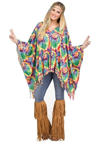 Click Here to buy Womens Hippie Poncho from HalloweenCostumes, CDN Funds & Shipping
