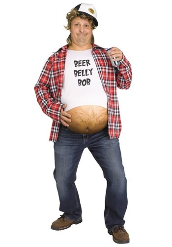 Click Here to buy Mens Beer Belly Bob Costume from HalloweenCostumes, CDN Funds & Shipping