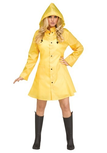 Women's Yellow Raincoat Costume