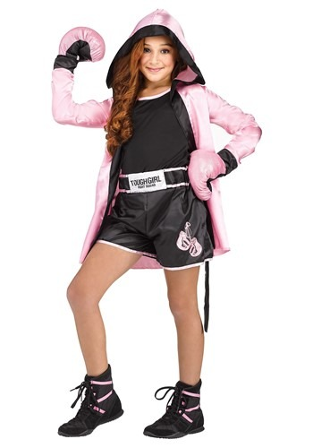 Girl's Tough Boxer Costume