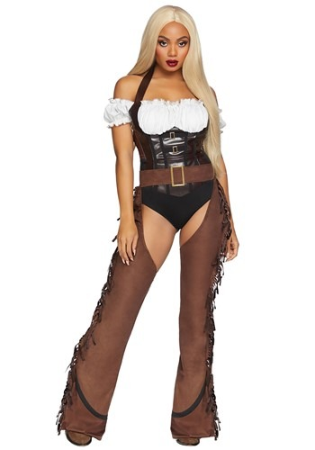 Click Here to buy Shoot Em Up Womens Cowgirl Costume from HalloweenCostumes, CDN Funds & Shipping