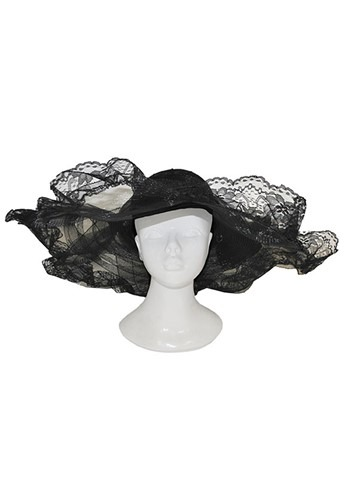 Black Woven Lace Hat