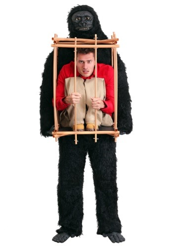 Gorilla With Man in a Cage Costume | Funny Adult Halloween Costumes