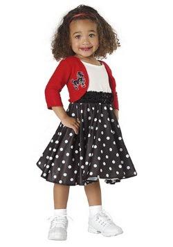 Toddler Girls 50's Costume