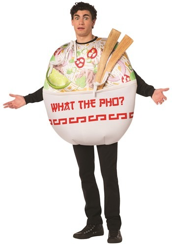 Click Here to buy Adult Pho Noodle Bowl Funny Costume from HalloweenCostumes, CDN Funds & Shipping