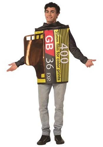 Click Here to buy Adult Camera 35mm Film Costume from HalloweenCostumes, CDN Funds & Shipping