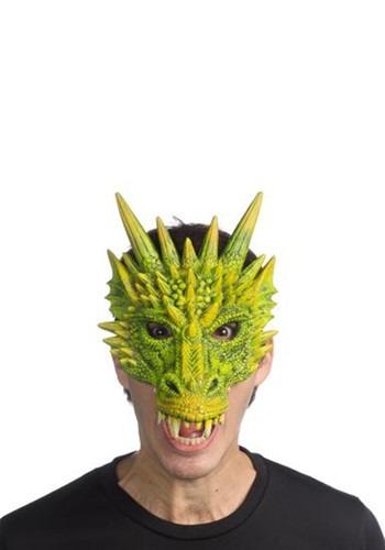 Half Green Dragon Mask